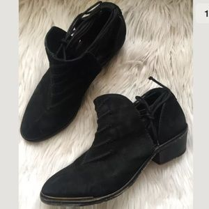 Free People cutout ankle boots tie booties
